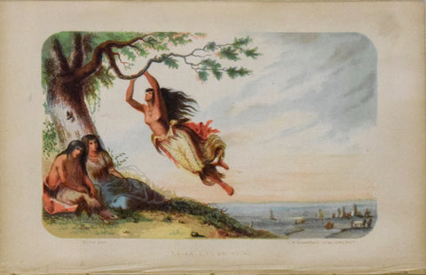 Alfred Jacob Miller (1810-1874), Indian Girl Swinging