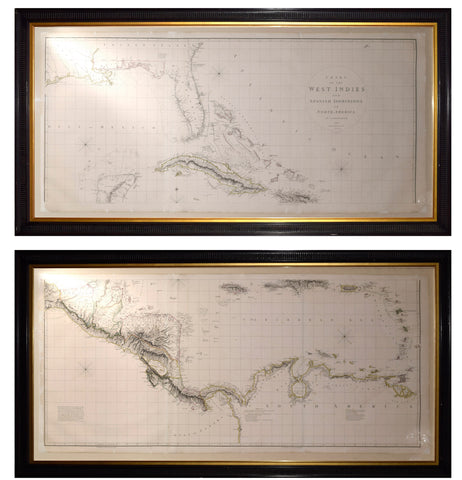 Aaron Arrowsmith (1750-1823). Chart of the West Indies and Spanish Dominions in North America