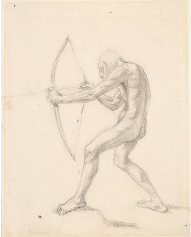 Karl Bodmer (Swiss, 1874-1962), The Archer (Sketch for 'Fort MacKenzie')