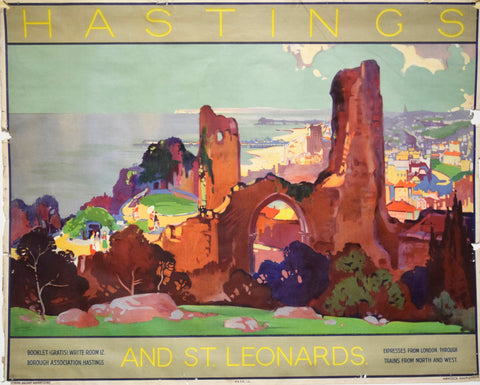 Leonard Richmond (British, 1889-1965), Hastings and St. Leonard [British Railways]