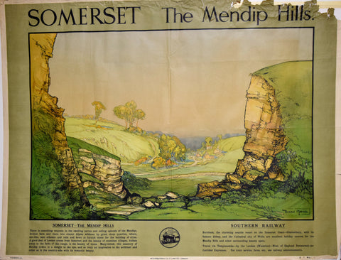 Donald Maxwell (British, 1877-1936), Somerset - The Mendip Hills, [Southern Railway, British Railways]