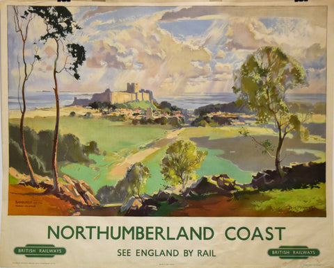 Jack Merriott (British, 1901-1968), Northumberland Coast, Bamburgh and the Farne Islands, [British Railways]