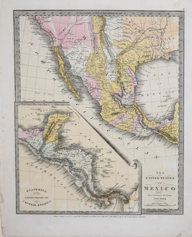 David H. Burr (1803-1875), The United States of Mexico on u s military history central america map, federation of central america map, colonial latin america map, us and mexico map, central america caribbean map, physical regions of the united states map, blank us physical geography map, anglicanism england united states spread map, anglican church population map,