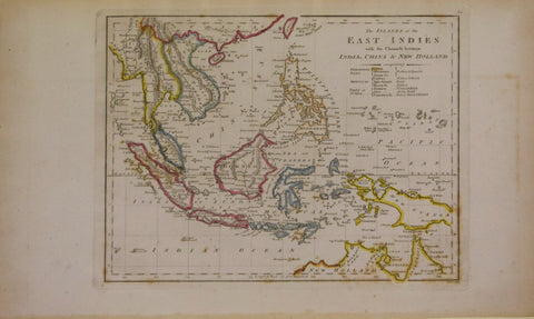 Mathew Carey (1760-1839), The Islands of the East Indies with the Channels between India, China, and New Holland