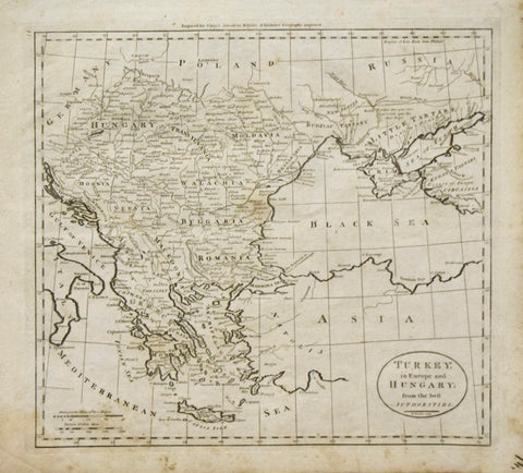 Mathew Carey (1760-1839) Turkey in Europe and Hungary from the best authorities