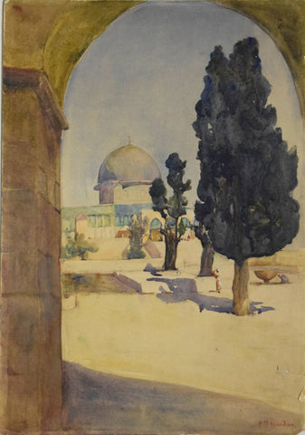 Hilda Mae Gordon (British, 1874-1972), Dome of the Rock, Jerusalem