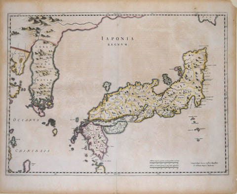 Johannes Blaeu (1596-1673), Iaponia Regnum (Japan and Korea)