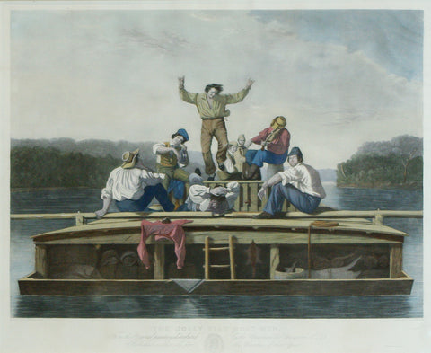 George Caleb Bingham (1811-1879), The Jolly Flat Boatman