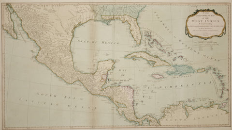 Thomas Kitchin (1718-1784), after Jean Baptiste d'Anville (1697-1782), A New and Complete Map of the West Indies...