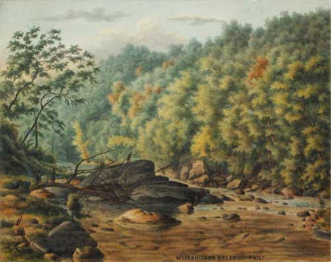 August Kollner (American, active 1838–72), Wissahickon Creek, Philadelphia, 1879