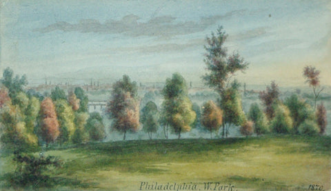 August Kollner (American, active 1838–72),  Philadelphia. W. Park. 1870. [Fairmount Park, Philadelphia]