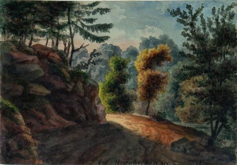August Kollner (American, active 1838–72),  On Wissahickon Creek. 1841. [Fairmount Park, Philadelphia]