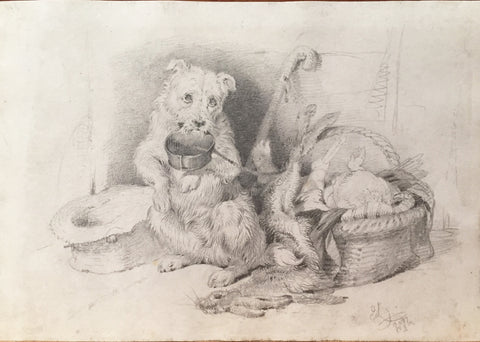 Sir Edwin Landseer (British, 1802-1873) Collection of Four Drawings