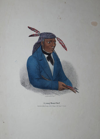James Otto Lewis (1799-1858), A Young Miami Chief