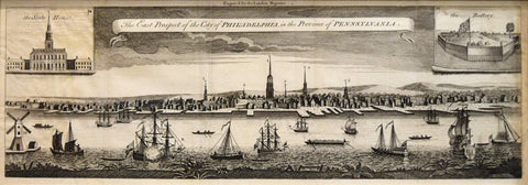 London Magazine (1761), The East Prospect of the City of Philadelphia in the Province of Pennsylvania
