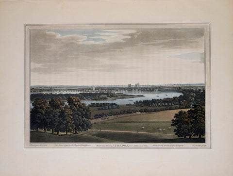 J. A. Farington R. A. (1747-1821) after, Battersea, Chelsea & London, from Mr. Ruckersville Villa