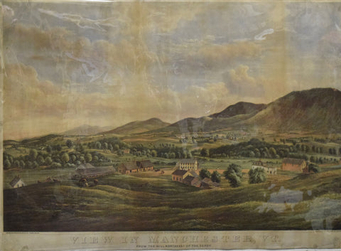 Frank Childs, View in Manchester, VT. From the Hill northeast of the Depot.