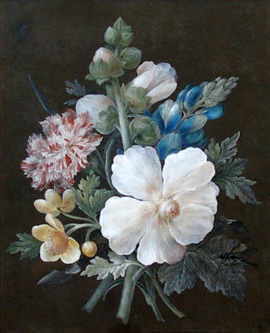 Gustav Michelsen (Danish, 1800-1846), Bouquet of Peony, Hyacinth and Carnation