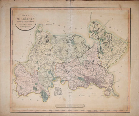 John Cary (English, c. 1754-1835),  A New Map of Middlesex divided into Hundreds