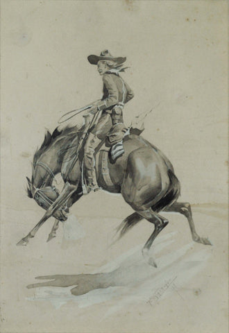 Frederic Whiting (1874-1962), Cowboy on Horseback