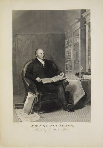 Asher B. Durand (after Thomas Sully)  John Quincy Adams, President of the United States. Philadelphia: W.H. Morgan, 1826