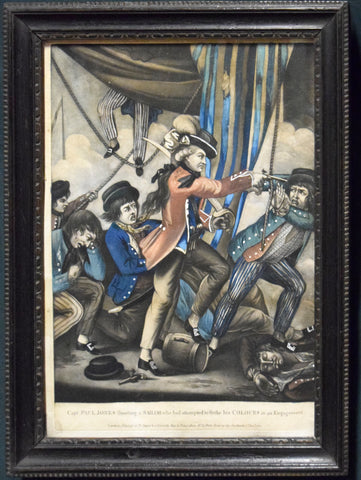 Capt. Paul Jones Shooting a Sailor who had Attempted to Strike his Colours in an Engagement