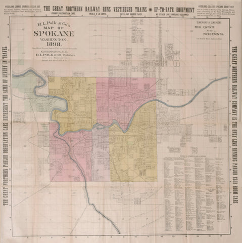 R.L. Polk, Publisher & E.P. Harrison, Surveyor  R.L. Polk & Co.'s Map of Spokane, Washington, 1898