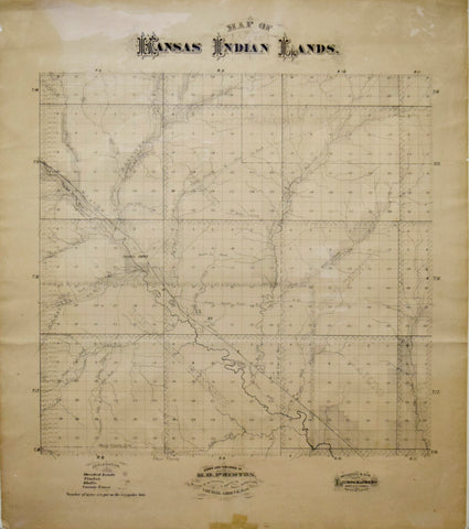 H.D. Preston, Map of Kansas Indian Lands