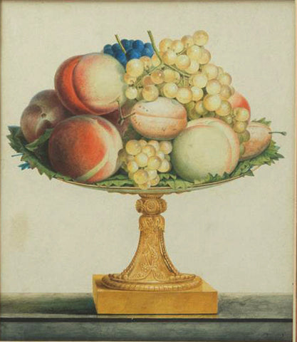 Jean Louis Prévost (c. 1760-1810), Still Life With Grapes and Peaches