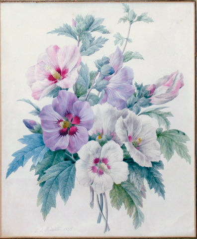Pierre-Joseph Redouté  (Belgian, 1759-1840), A Bouquet of Rose of Sharon