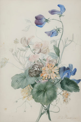 Pierre-Joseph Redouté  (Belgian, 1759-1840), Bouquet with Butterfly