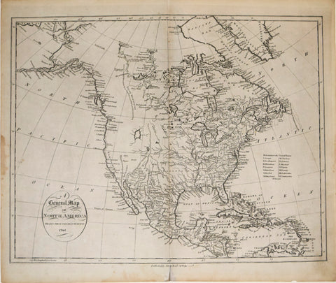 John Reid, A General Map of North America Drawn from the Best Surveys 1795