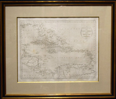 John Reid,  An Accurate Map of the West Indies with the adjacent Coast of America. 1796