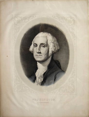 "After Gilbert Stuart. ""Washington."""