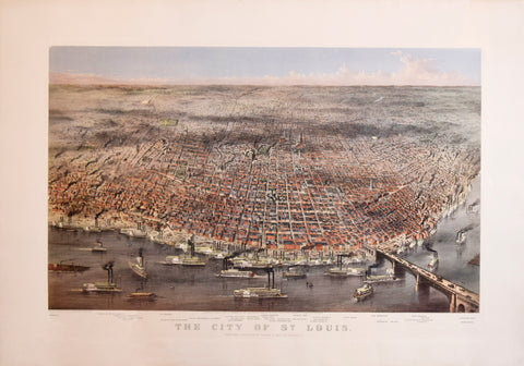 Nathaniel Currier (1813-1888) & James Ives (1824-1895), The City of St. Louis