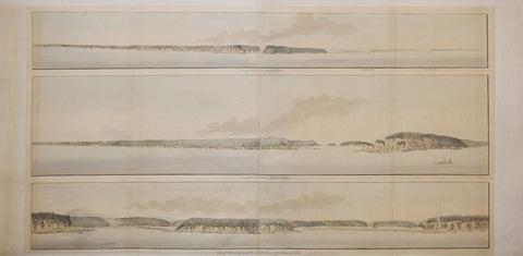Joseph Frederick Wallet Des Barres (1721-1824),  a) View of the Entrance of Annapolis Bason, b) View of the North Entrance of Grand Passage, c) View of the Eden and Gascoyne River at the Entrance of the Bason of Mines [Nova Scotia]