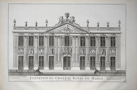Pierre Le Pautre (1652-1716), Elevation du Chateau Royal de Marly