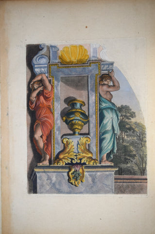 Pierre Le Pautre (1652-1716), Caryatids painted red and blue