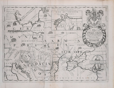 Edward Wells (1667-1727), A New Map of Sarmantia, Europaea, Pannonia and Dacia
