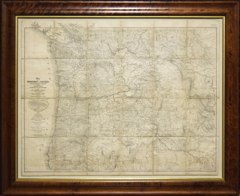 Lieut. Thomas W. Symons (1849-1920), Map of the Department of the Columbia..by Lieut Thomas W. Symons Corp of Engineers...