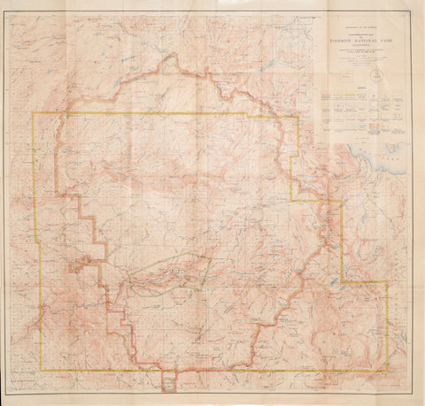 Department of the Interior, Administrative Map of Yosemite National Park, Edition of 1910 [California]