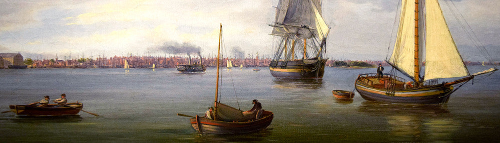 Thomas Birch - Philadelphia from the Delaware River