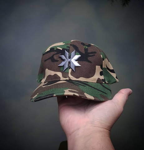 Green Camo Hat velcro back