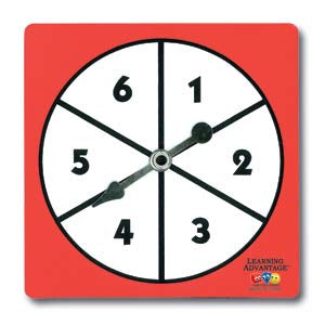 1-6 Number Spinners, Set of 5