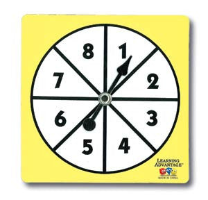 1-8 Number Spinners, Set of 5