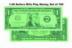 $1.00 Dollars Bills Play Money, Set of 100