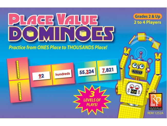 Place Value Dominoes EducationalLearningGames.com