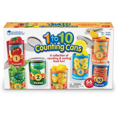 1 to 10 Counting Cans