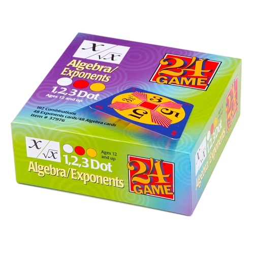 24 GAME Algebra Readiness Exponents 96 Card Deck