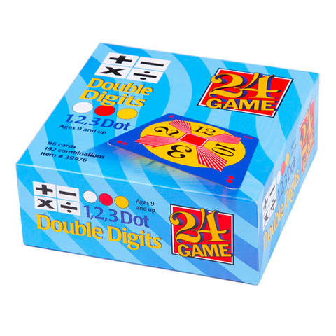 24 GAME Double Digits Math Game 96 Card Deck